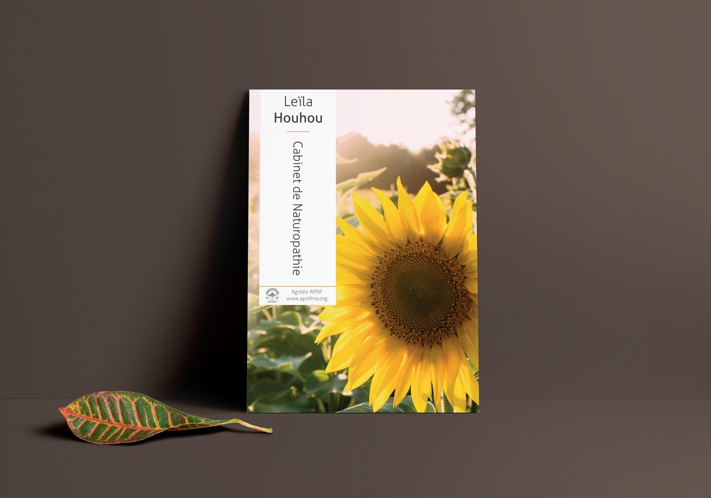 print - Flyer A6 Recto - Leila Houhou - Naturopathe