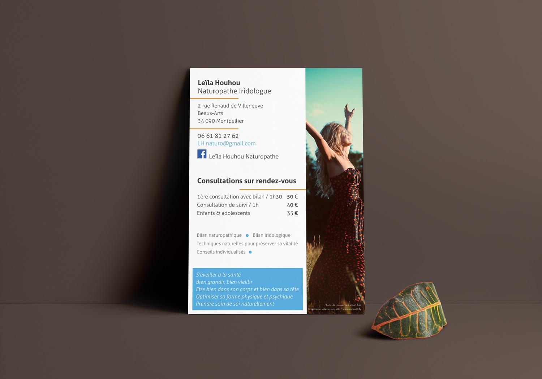 print - Flyer A6 Verso - Leila Houhou - Naturopathe