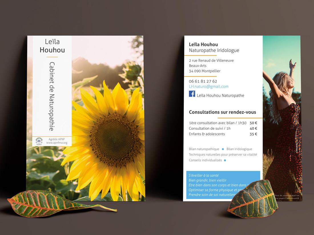 print - Flyer A6 Recto/Verso - Leila Houhou - Naturopathe